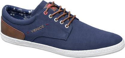 Venice Blauwe canvas sneaker