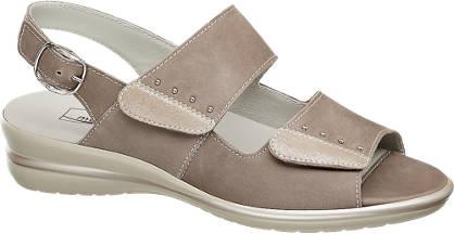 Medicus Lichtbruine leren comfort sandaal klittenband