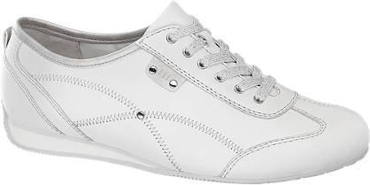 Medicus Witte leren sneaker wijdte G