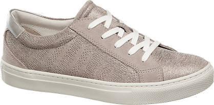 5th Avenue Grijze suède sneaker perforaties
