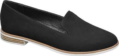 Graceland Zwarte loafer kurk