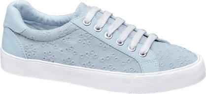 Graceland Lichtblauwe sneaker kant