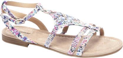 Graceland Roze sandaal bloemenprint