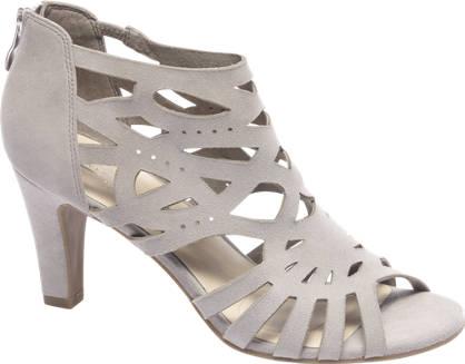 5th Avenue Grijze suède sandalette ritssluiting