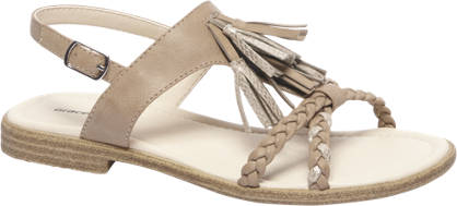 Graceland Licht bruine sandaal sierkwasten