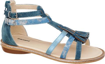 Graceland Blauwe sandaal denim