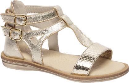 Cupcake Couture Gouden leren sandaal slangenprint