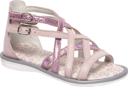 Cupcake Couture Roze Leren sandaal metallic