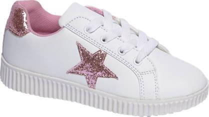 Graceland Witte sneaker glitters