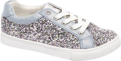 Graceland Blauwe sneaker pailletten