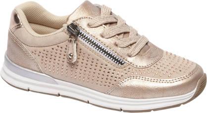 Graceland Rosè sneaker strass