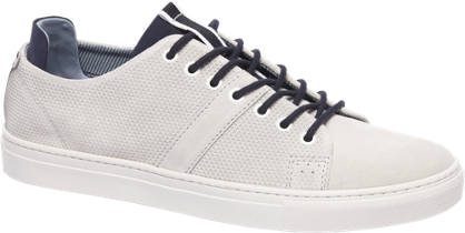 AM shoe Witte suède sneaker perforaties
