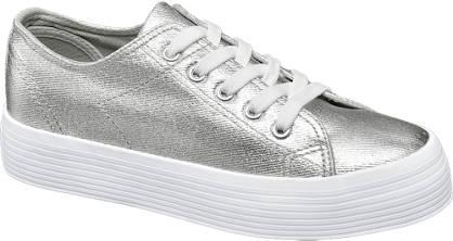 Vty Zilvere sneaker plateauzool