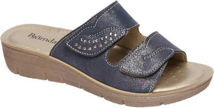 Björndal Blauwe sandaal klittenband