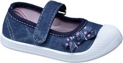 Cupcake Couture Blauwe canvas schoen klittenband