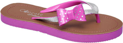 Cupcake Couture Roze slipper met strik