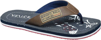 Memphis One Blauwe teentslipper
