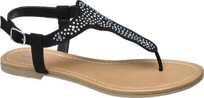 Graceland Zwarte sandaal studs