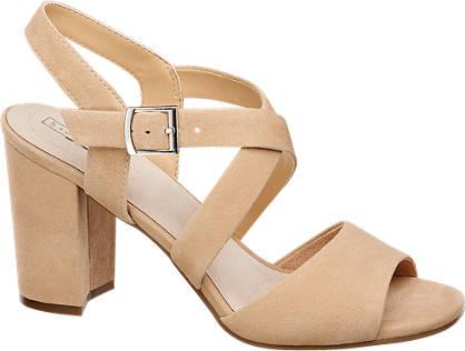5th Avenue Beige suède sandalette gesp