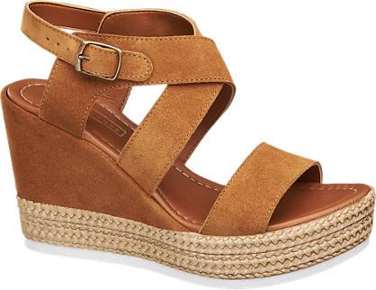 5th Avenue Bruine suède sandalette sleehak