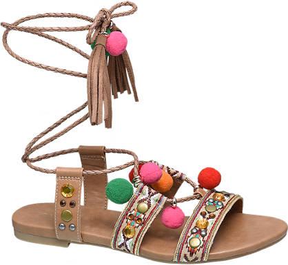 Catwalk Pom pom sandale