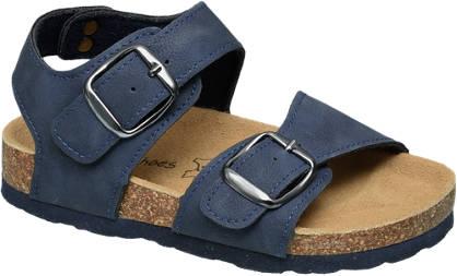 Bobbi-Shoes Blauwe sandaal leren voetbed