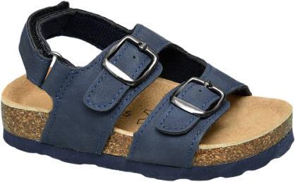 Bobbi-Shoes Blauwe sandaal gespsluiting