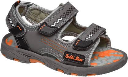 Bobbi-Shoes Grijze sandaal klittenband