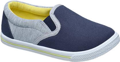 Bobbi-Shoes Blauwe sneaker jersey details