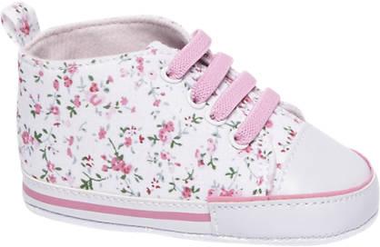 Casa mia Witte babyschoen bloemenprint