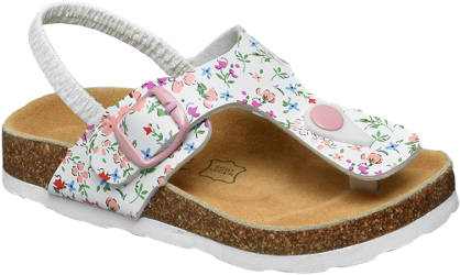 Cupcake Couture Witte elastische sandaal bloemenprint