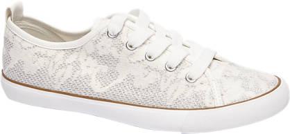 Graceland Witte sneaker slangenprint