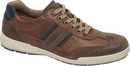 Gallus Bruine leren sneaker perforatie