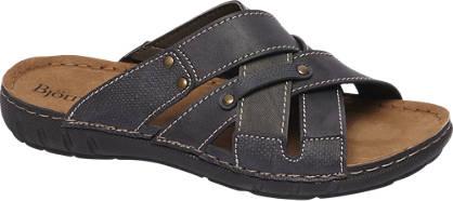 Björndal Blauwe sandaal leren voetbed