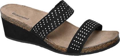 Graceland Zwarte slipper studs