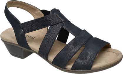 Björndal Zwarte sandaal elastiek