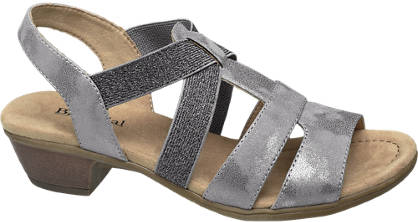 Björndal Grijze sandaal metallic