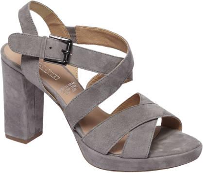 5th Avenue Grijze suède sandalette