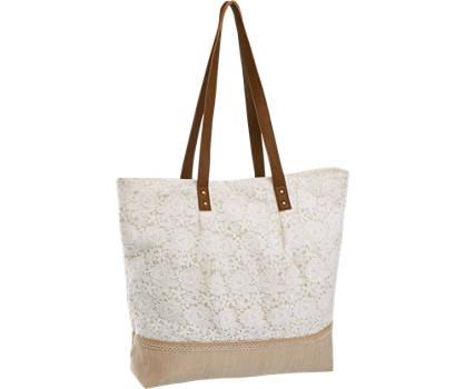 Graceland Witte shopper bloemen