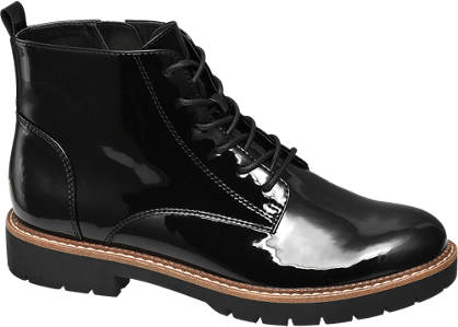 Graceland Patent Lace Up Boot