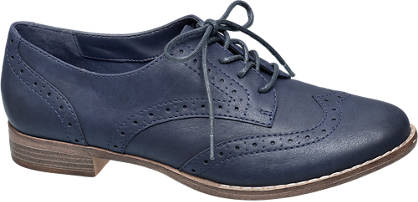 Graceland Blauwe veterschoen brogue