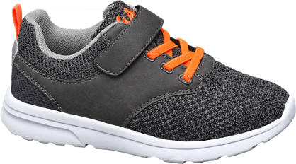 Agaxy Grijze lightweight sneaker klittenband