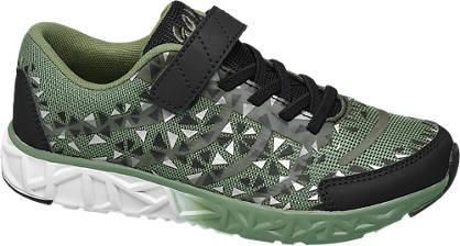 Agaxy Groene lightweight sneaker klittenband