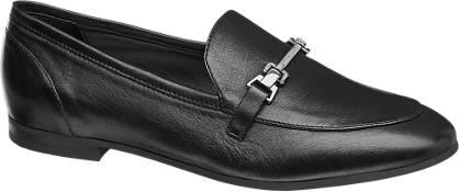 5th Avenue Zwarte leren loafer