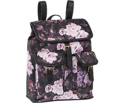 Graceland Zwarte rugzak bloemenprint