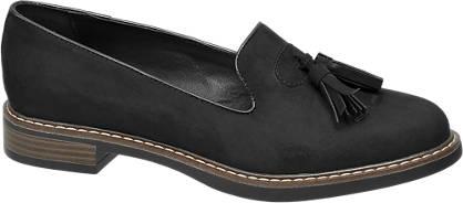 Graceland Zwarte loafer sierkwastjes