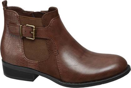 Graceland Bruine chelsea boot crocoprint