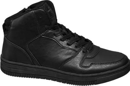 Memphis One Zwarte halfhoge sneaker
