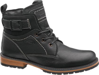 AM shoe Zwarte boot gesp
