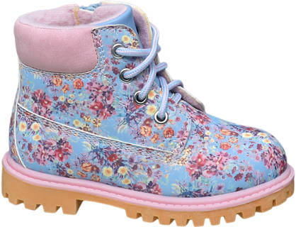 Cupcake Couture Toddler Girl Floral Lace-up Ankle Boots